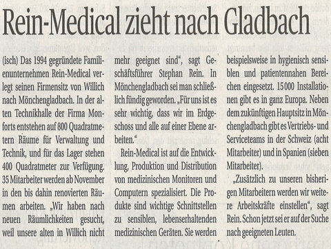 Rheinische Post: Rein Medical zieht im November nach Gladbach