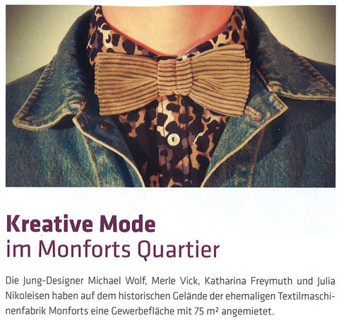 Hindenburger: Kreative Mode im Monforts Quartier